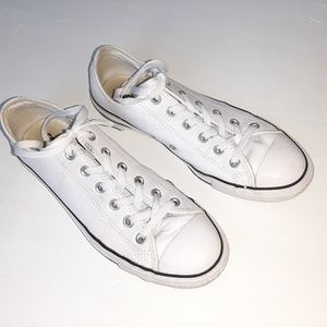 Converse Leather All Star Low Top Lace Up Sneakers